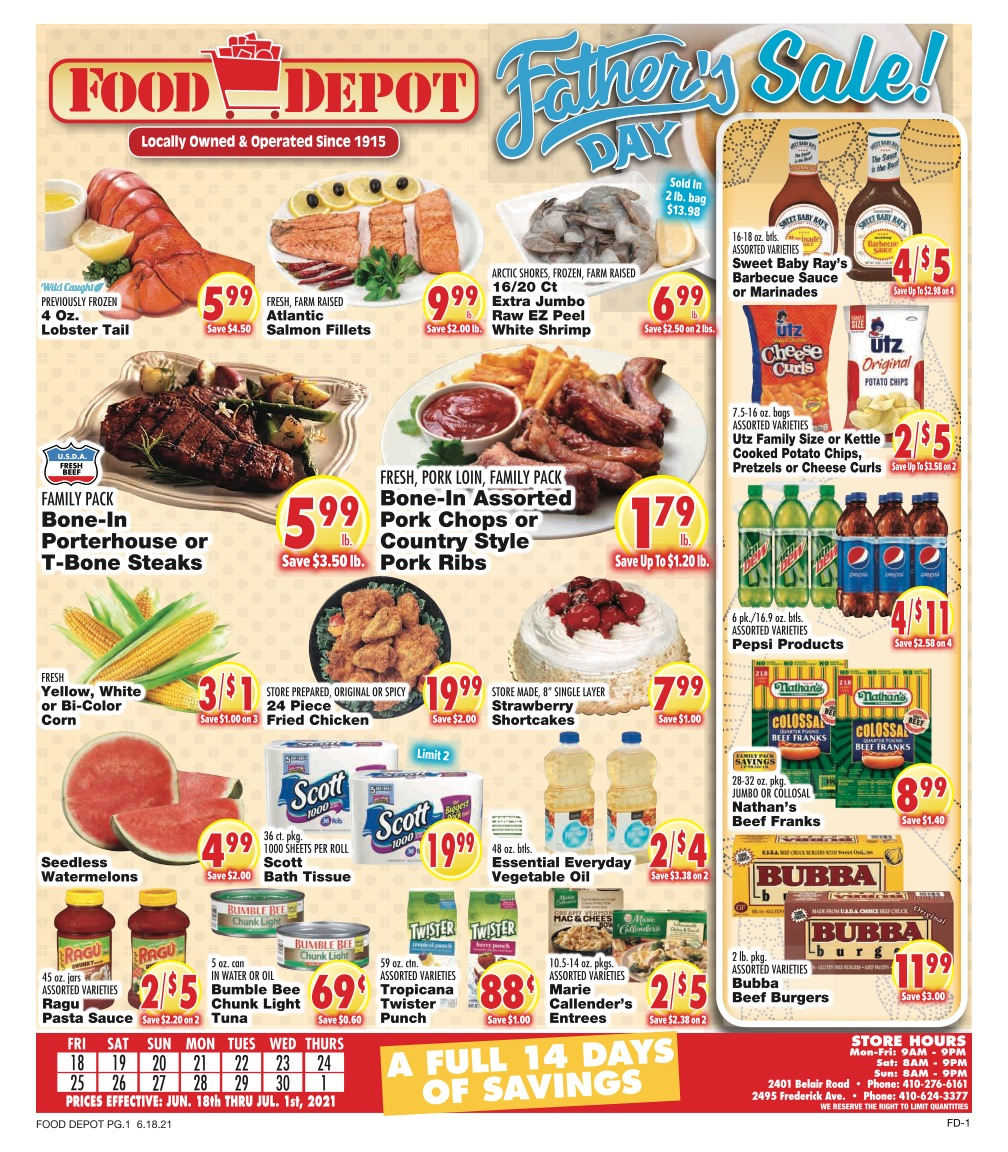 This Week's Specials - page 1